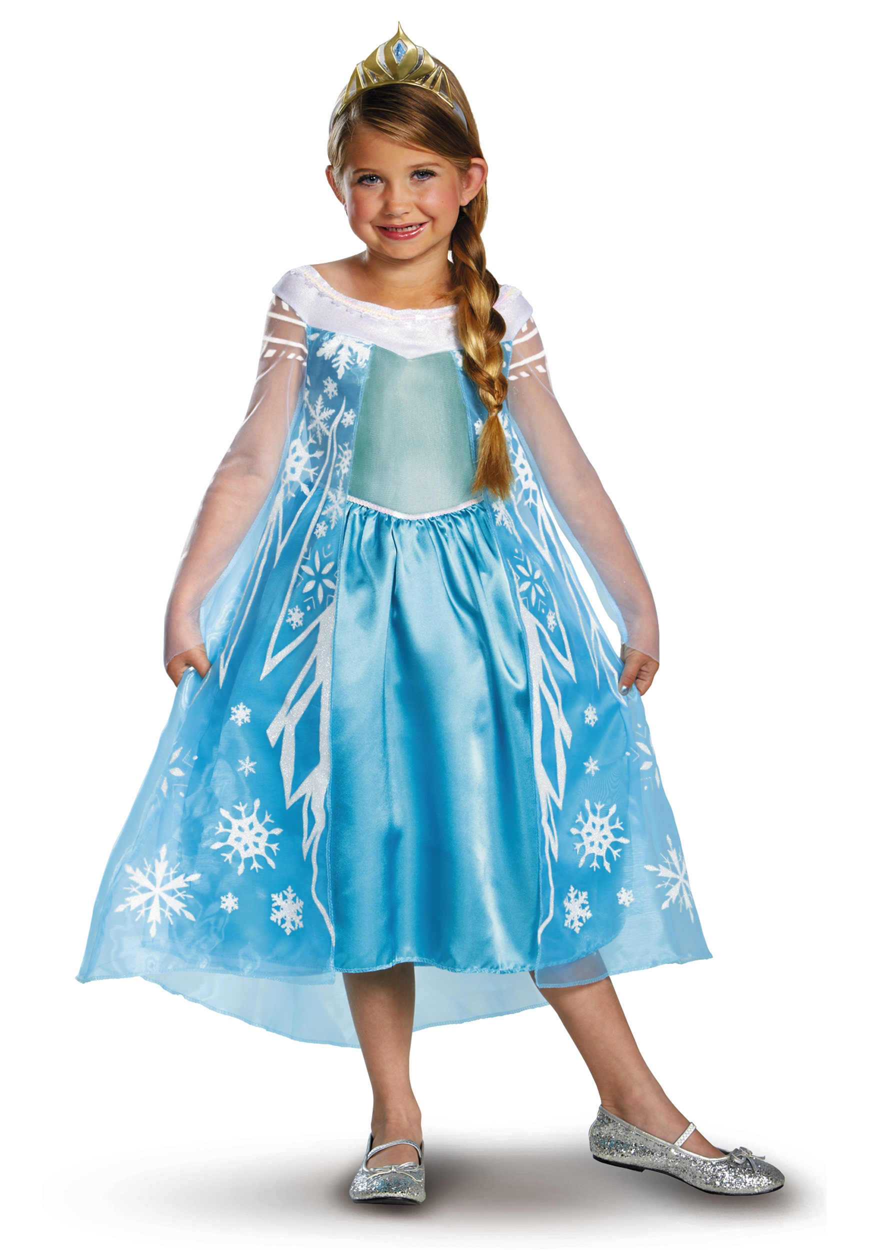 Elsa Deluxe Frozen Costume  sc 1 st  Halloween Costumes : elsa and olaf costumes  - Germanpascual.Com