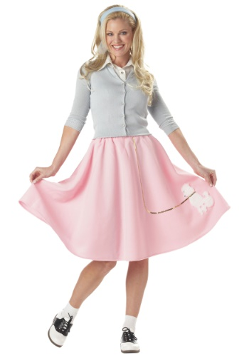 Click Here to buy Adult Pink Poodle Skirt from HalloweenCostumes, CDN Funds