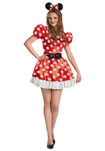 Click Here to buy Red Minnie Classic Adult Costume from HalloweenCostumes, CDN Funds