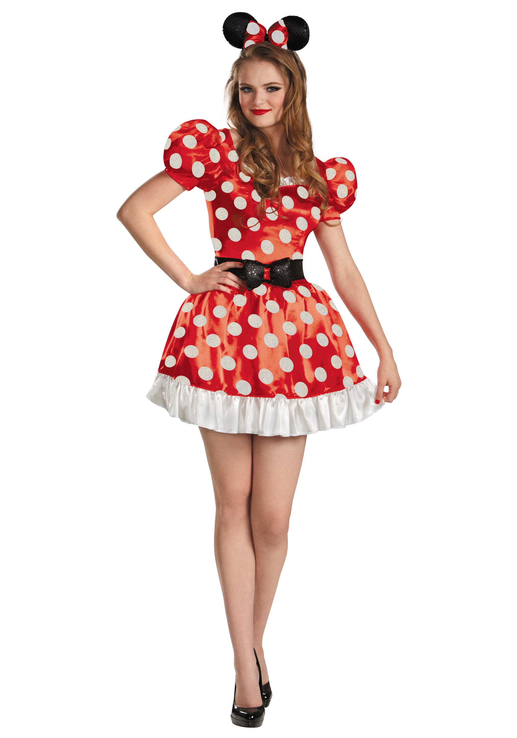 plus size red minnie classic costume. Black Bedroom Furniture Sets. Home Design Ideas