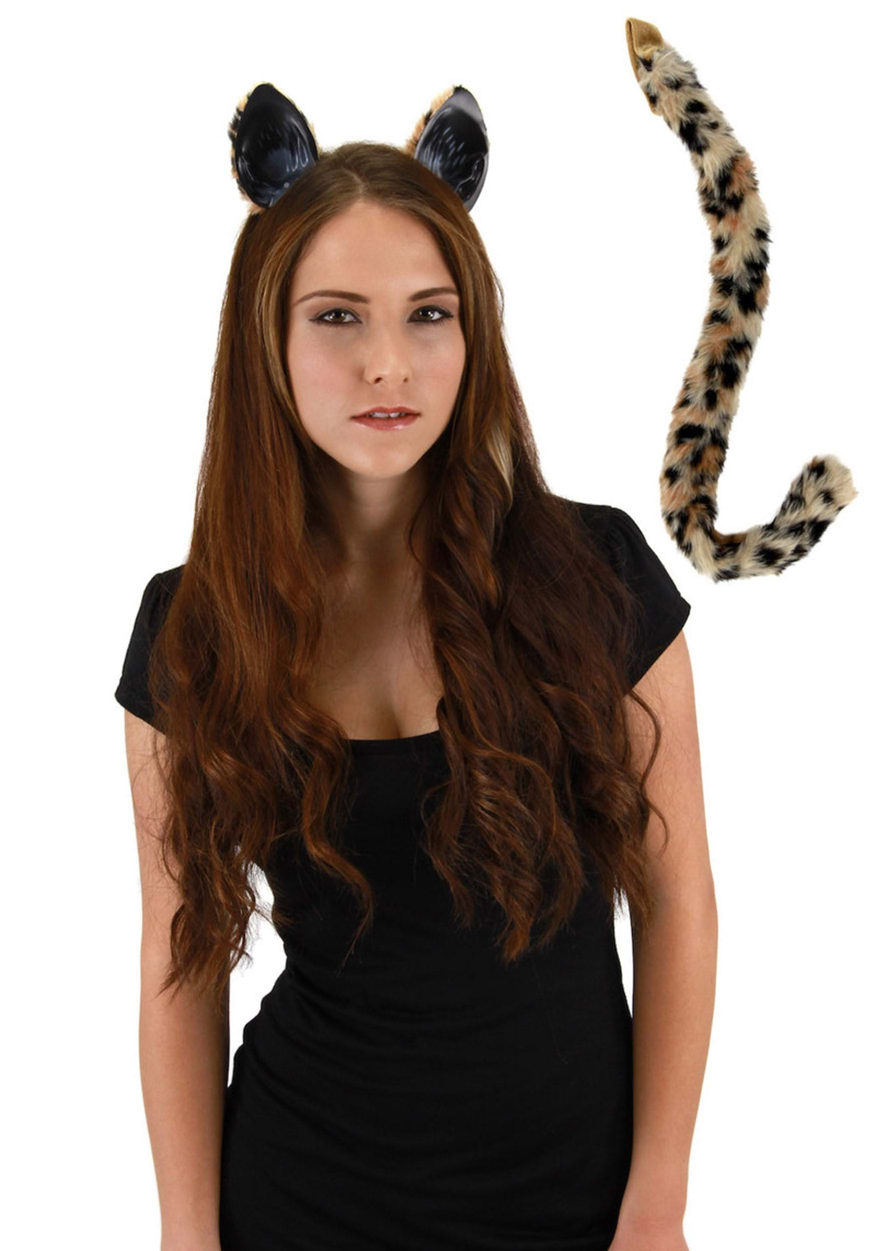 Halloween Cat Ears And Tail Set