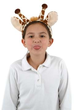 Giraffe Fleece Ears and Tail Set