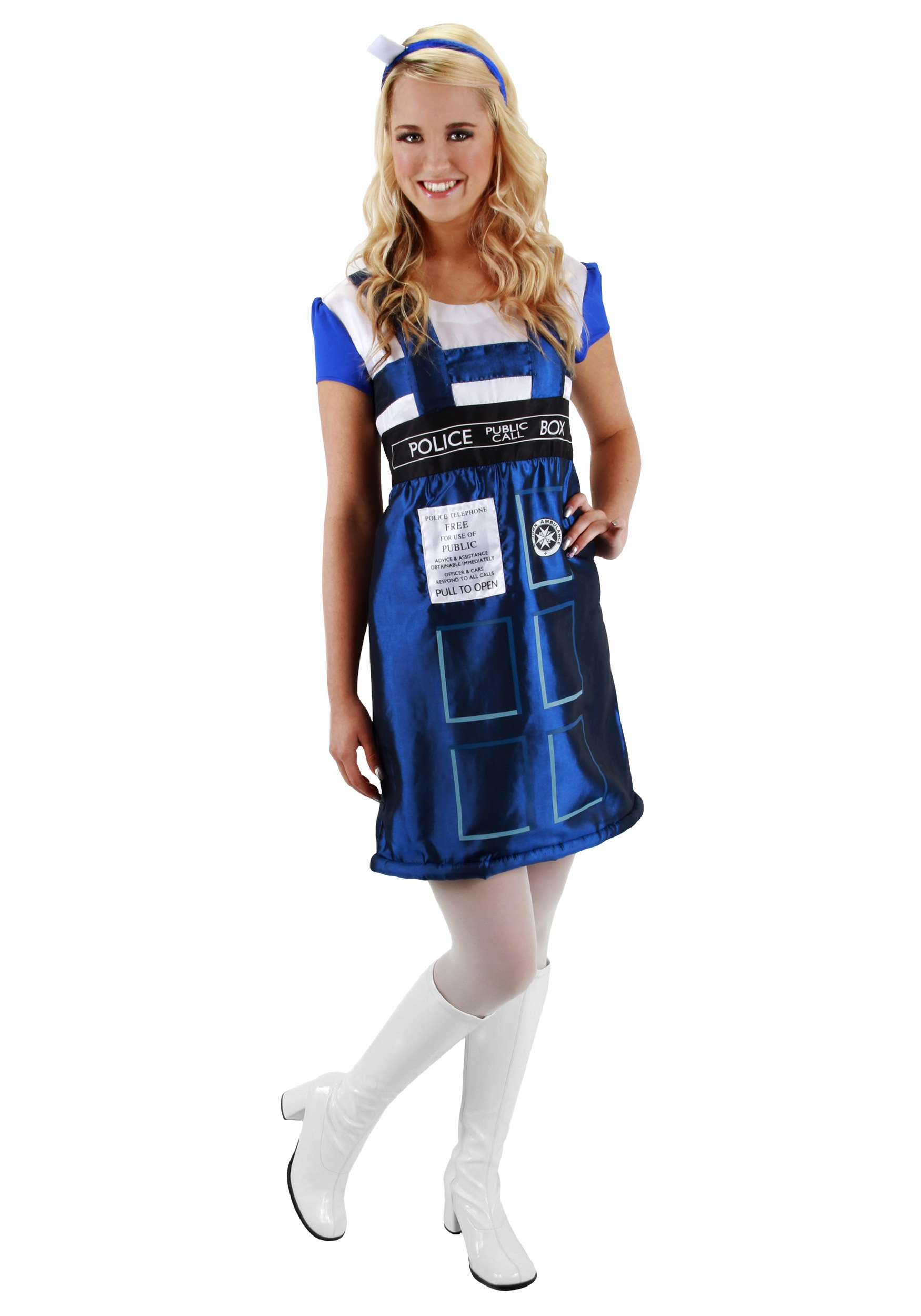 WHO TARDIS DRESS with headband included blue womens costume  sc 1 st  HalloweenAngel & Female Doctor Who Halloween Costume Guide