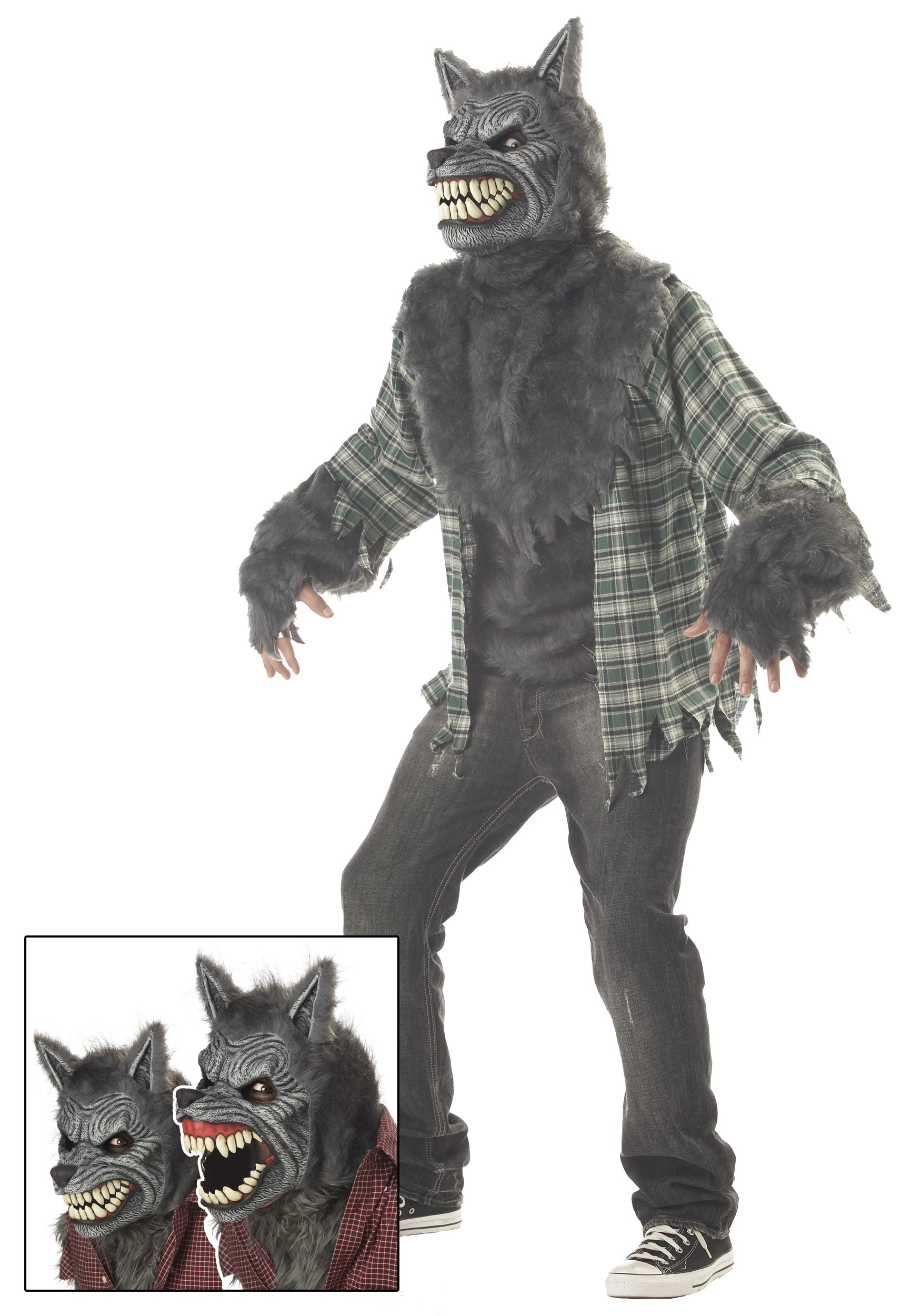Wolf costumes adult kids wolf costume werewolf costumes full moon werewolf costume solutioingenieria Choice Image
