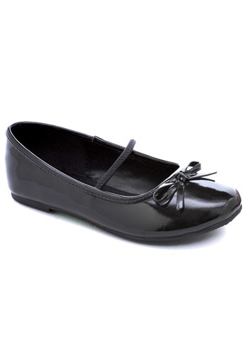 Girls Black Ballet Flats By: Ellie for the 2015 Costume season.