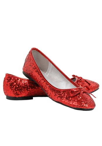 Women's Red Glitter Flats By: Ellie for the 2015 Costume season.