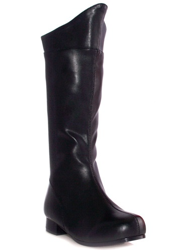Boys Black Superhero Boots By: Ellie for the 2015 Costume season.