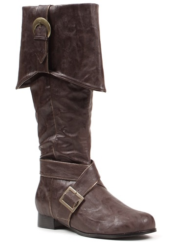 Mens Brown Buckle Pirate Boots By: Ellie for the 2015 Costume season.