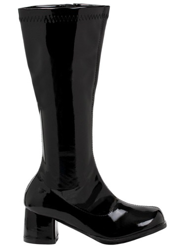 Girls Black Gogo Boots By: Ellie for the 2015 Costume season.