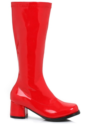 Girls Red Gogo Boots By: Ellie for the 2015 Costume season.