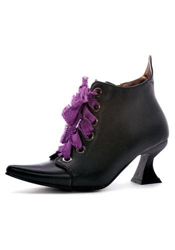 Click Here to buy Womens Lace Up Witch Shoes from HalloweenCostumes, USA Funds & Shipping