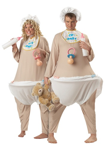 Click Here to buy Adult Baby Costume from HalloweenCostumes, CDN Funds