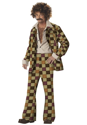 Click Here to buy Mens Disco Leisure Suit Costume from HalloweenCostumes, USA Funds & Shipping