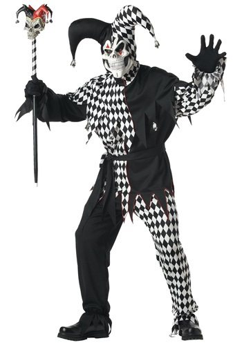Click Here to buy Adult Dark Jester Costume from HalloweenCostumes, CDN Funds