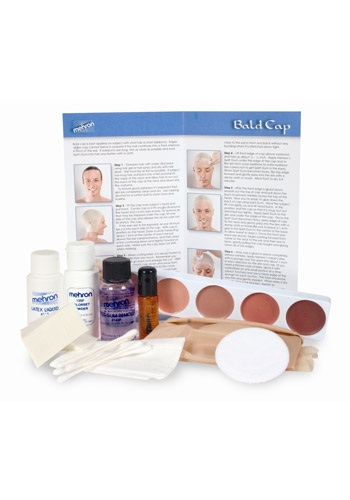 Click Here to buy Mehron Bald Cap Kit from HalloweenCostumes, USA Funds & Shipping