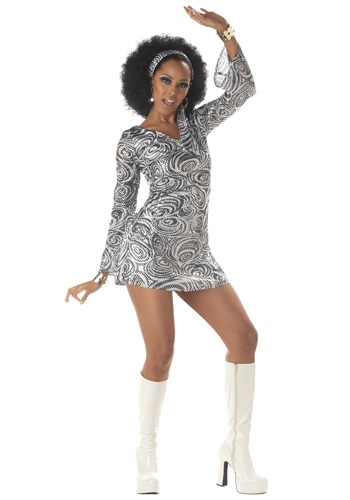 Click Here to buy Sexy Disco Diva Dress Costume from HalloweenCostumes, CDN Funds