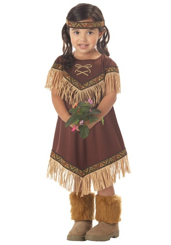 Click Here to buy Toddler Lil Native American Princess Costume from HalloweenCostumes, CDN Funds