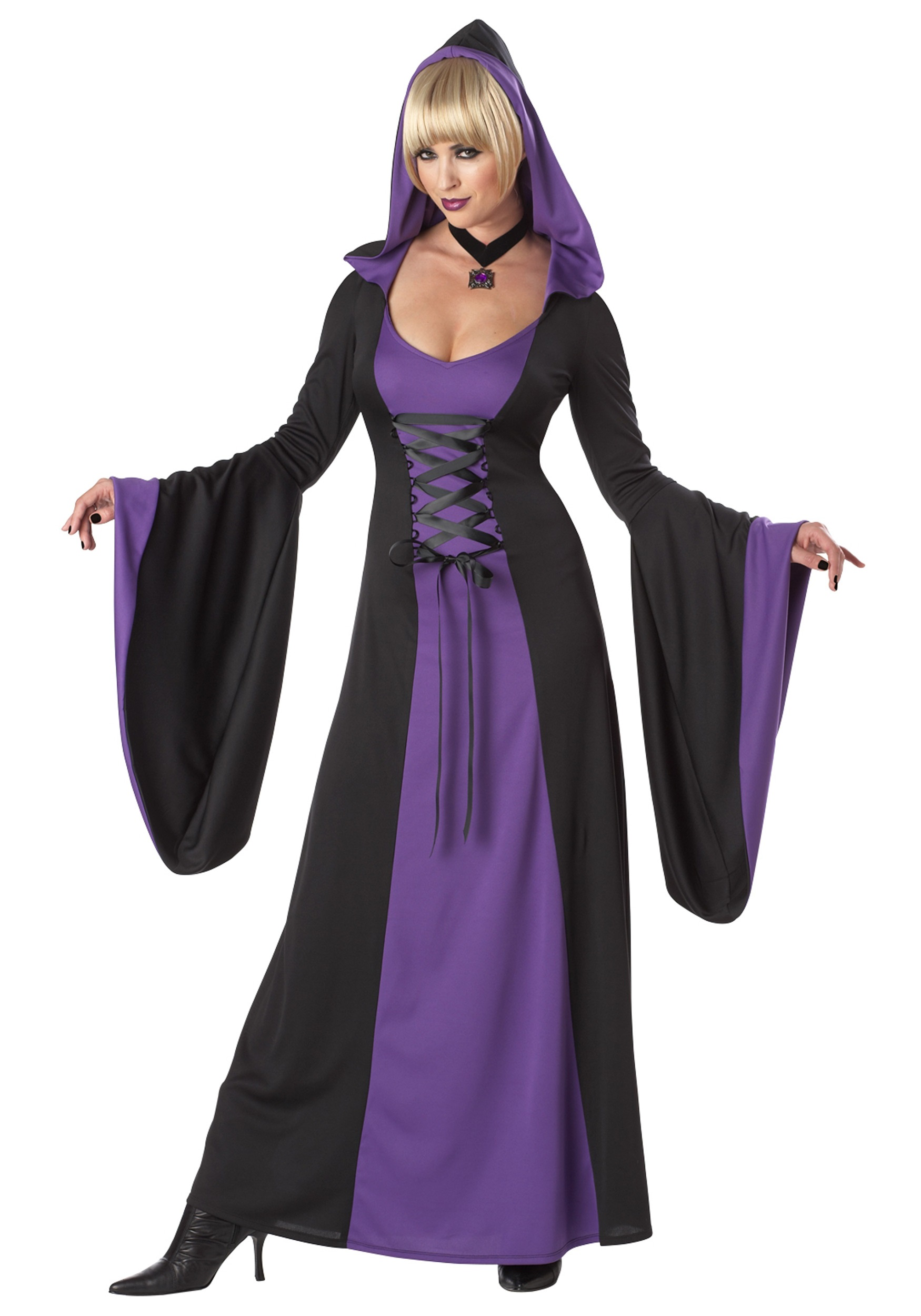 deluxe purple hooded robe. Black Bedroom Furniture Sets. Home Design Ideas
