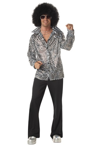 Click Here to buy Mens Disco Shirt from HalloweenCostumes, USA Funds & Shipping
