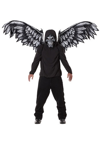 Click Here to buy Fallen Angel Mask and Wings from HalloweenCostumes, CDN Funds