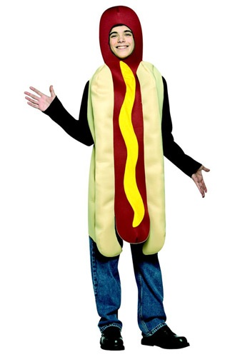 Click Here to buy Teen Hot Dog Costume from HalloweenCostumes, USA Funds & Shipping