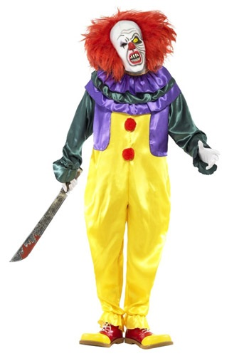 Click Here to buy Classic Horror Clown Costume from HalloweenCostumes, USA Funds & Shipping