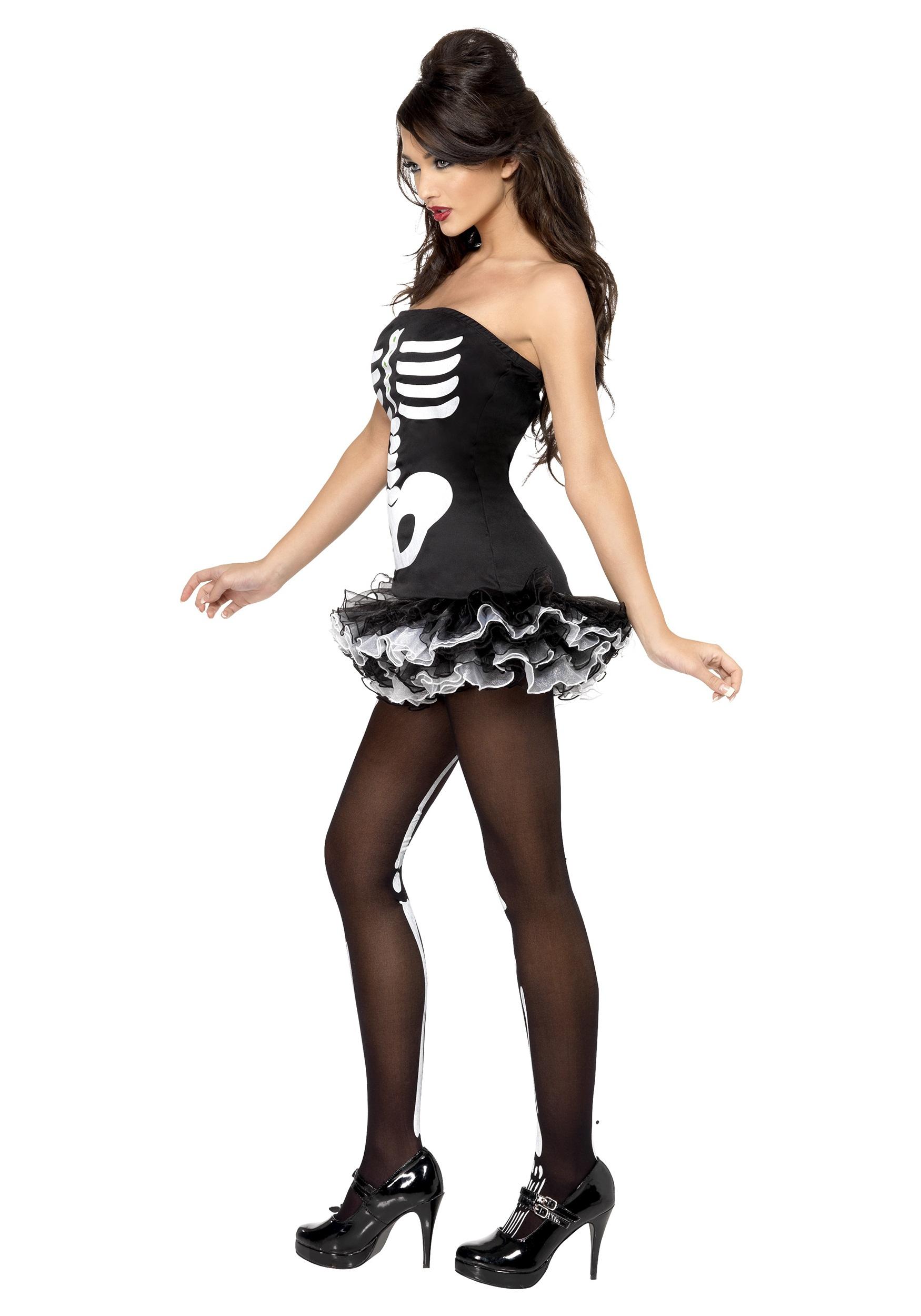 Womens Sexy Skeleton Costume-9238
