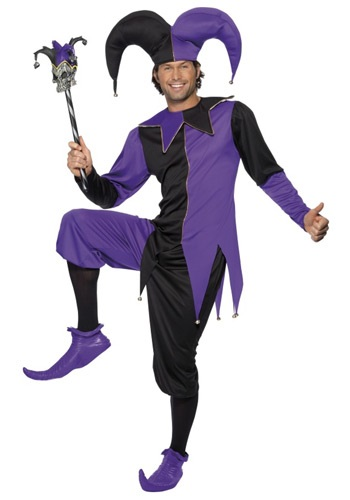 Click Here to buy Medieval Jester Costume from HalloweenCostumes, USA Funds & Shipping