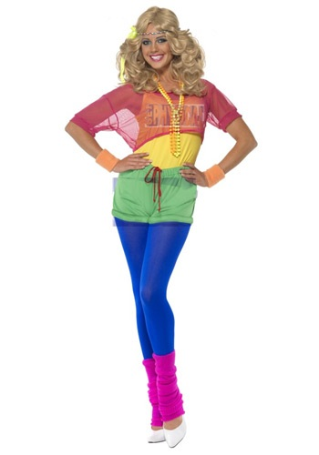 Click Here to buy Womens 80s Lets Get Physical Costume from HalloweenCostumes, USA Funds & Shipping