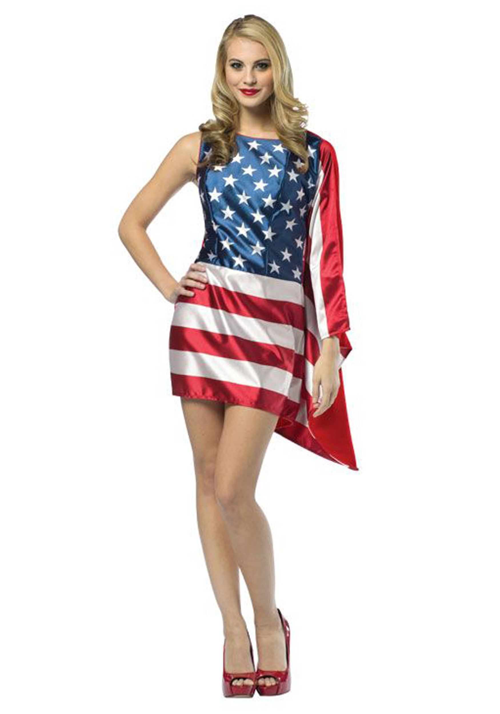 Women's Flag Dress Costume