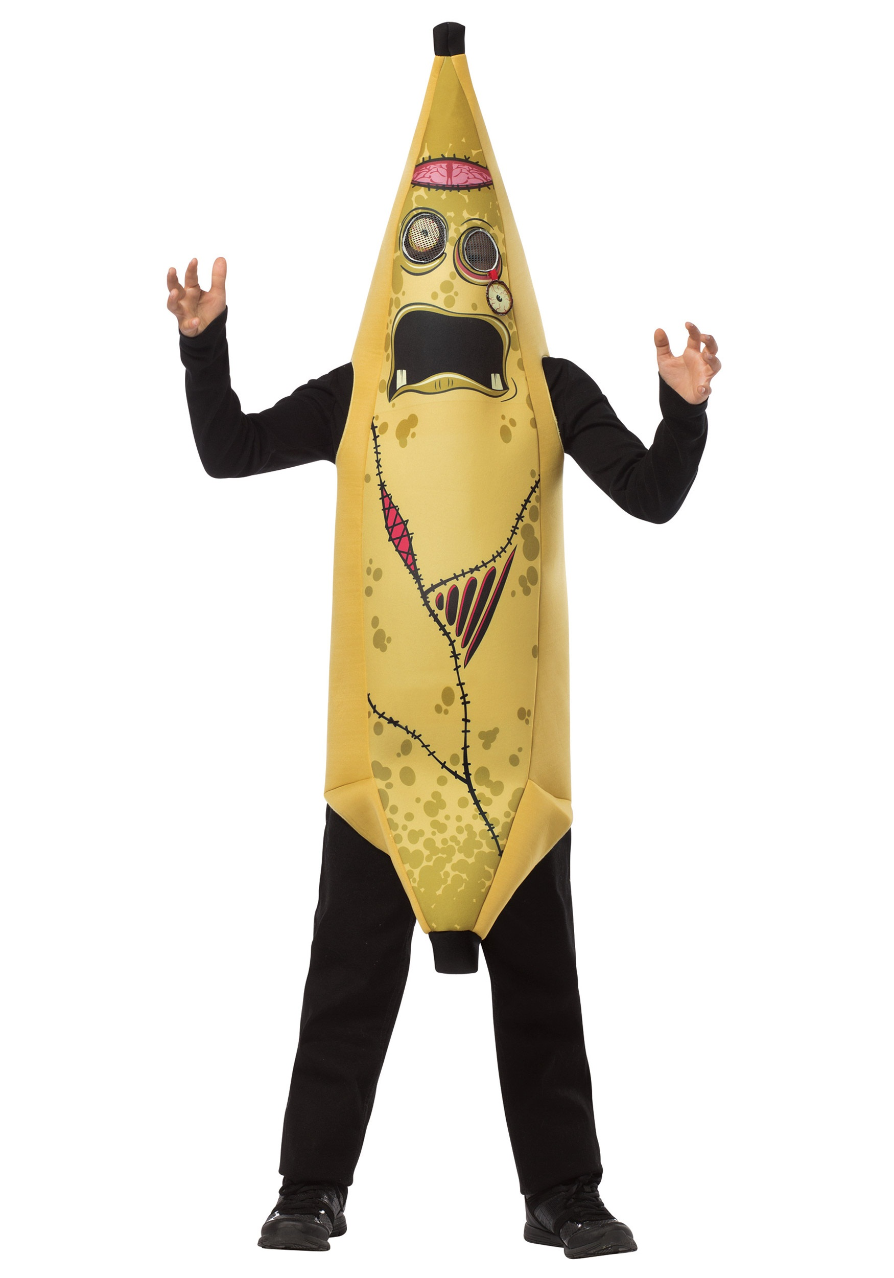 child zombie banana costume front - Banana Costume Halloween