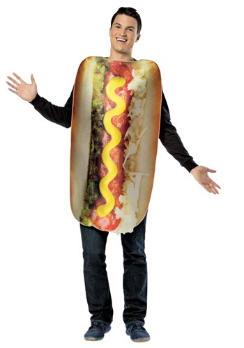 Adult Get Real Loaded Hot Dog Costume By: Rasta Imposta for the 2015 Costume season.