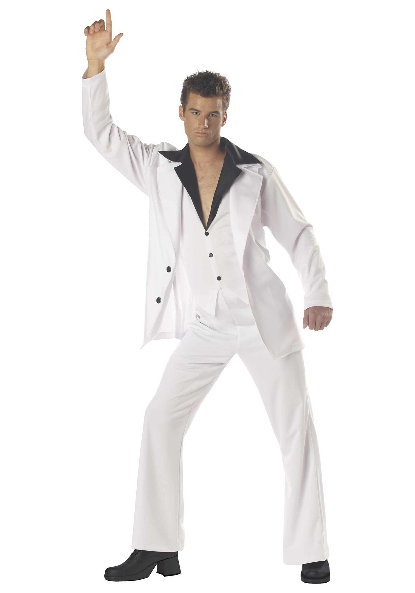 Men S Casual Inspiration 4: Men's White Disco Suit Costume
