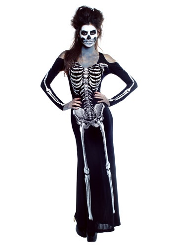 Women's Bone Appetit Skeleton Long Dress Costume By: Seeing Red for the 2015 Costume season.