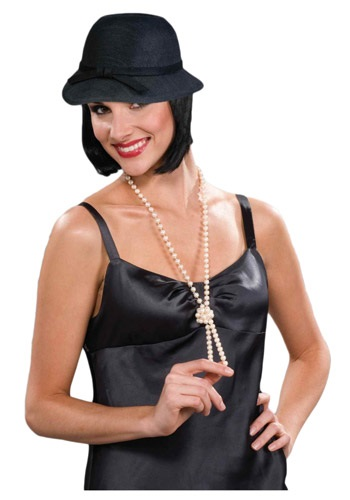 Black Flapper Hat By: Forum Novelties, Inc for the 2015 Costume season.