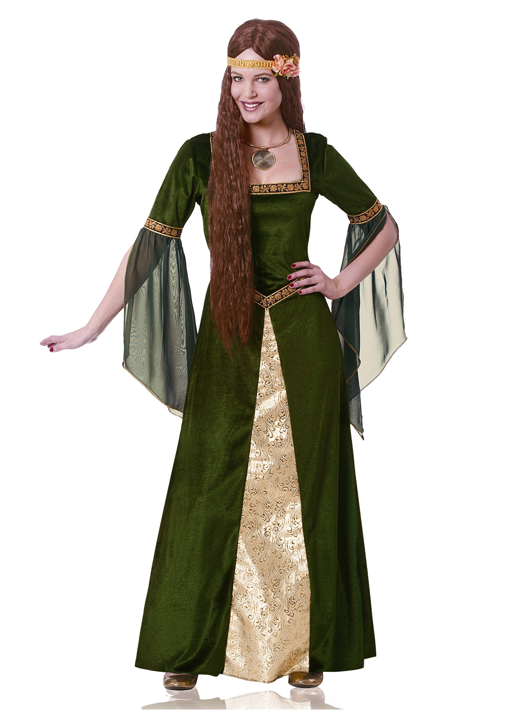 sc 1 st  Halloween Costumes & Adult Green Renaissance Lady Costume