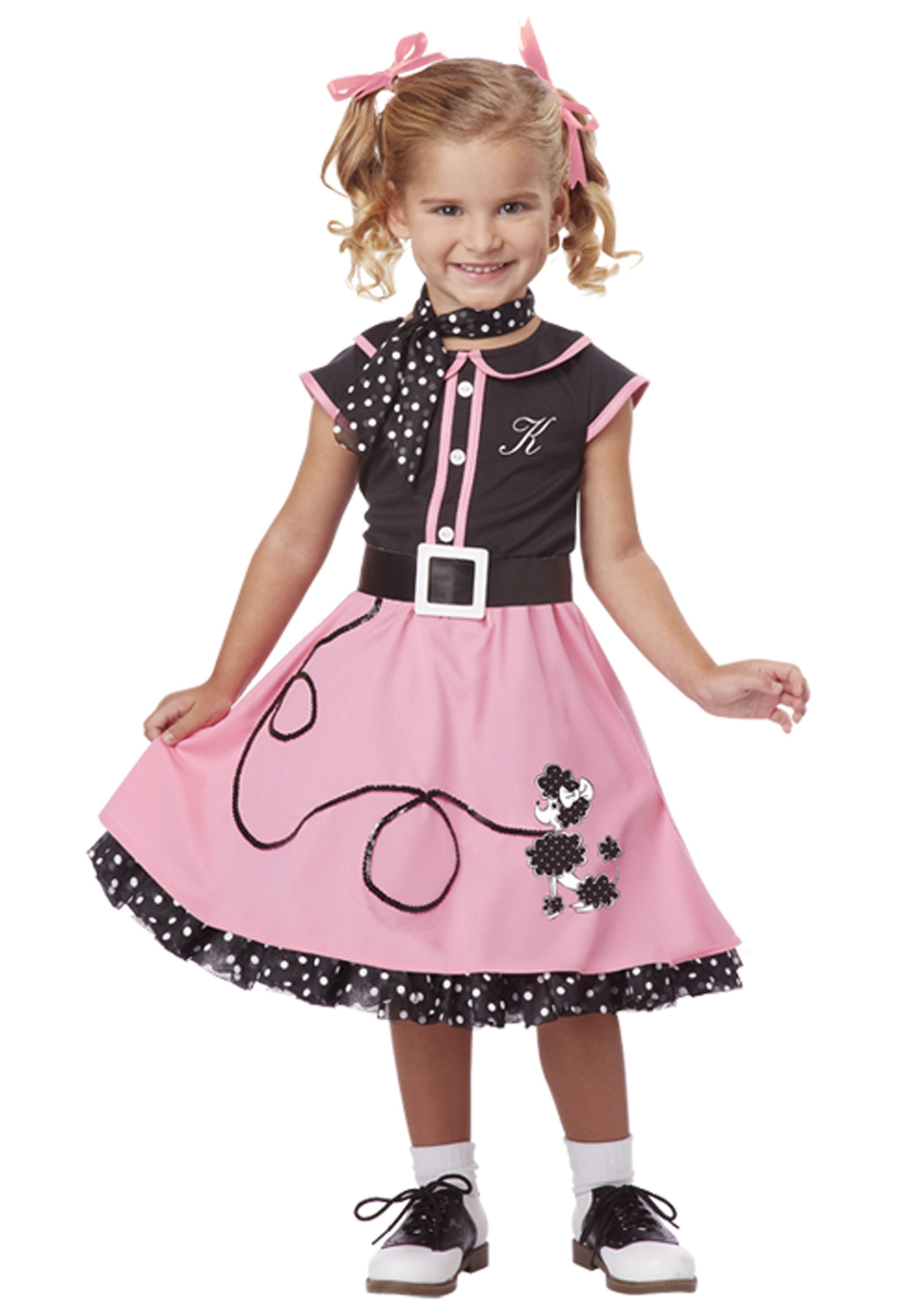 Poodle Dress Kids 1950s Costume Halloween Fancy Dress