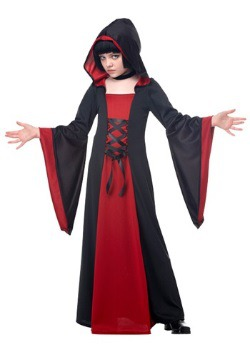 Child Red Hooded Robe
