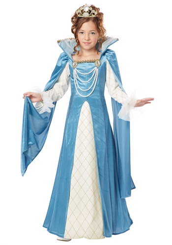 Click Here to buy Girls Renaissance Queen Costume from HalloweenCostumes, USA Funds & Shipping