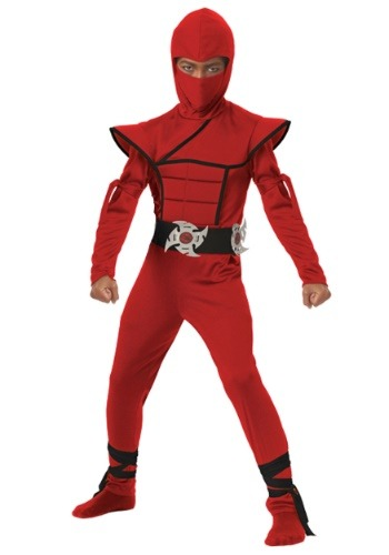 Click Here to buy Boys Red Stealth Ninja Costume from HalloweenCostumes, USA Funds & Shipping