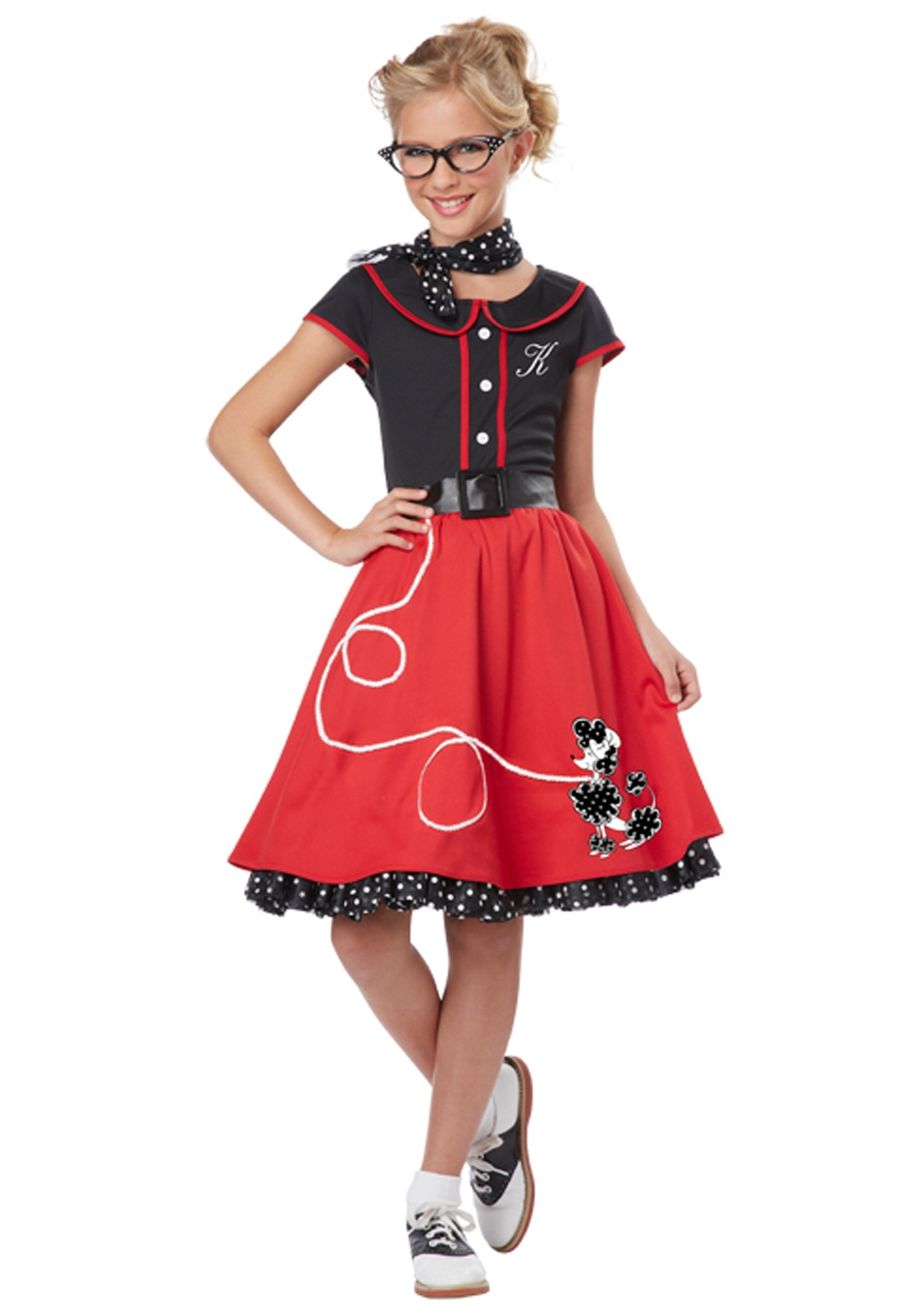 kids 50s costumes, poodle skirts & grease outfits