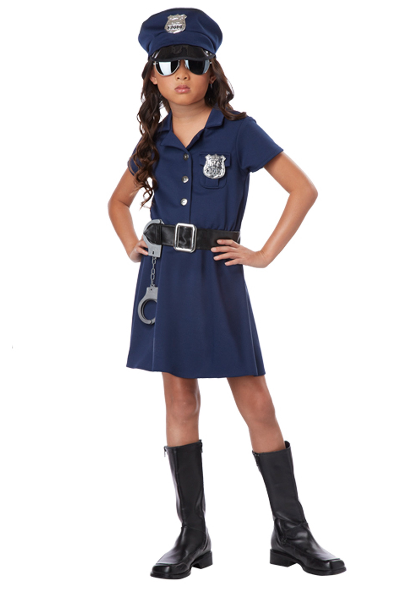 girls police officer costume - Partyland Halloween Costumes
