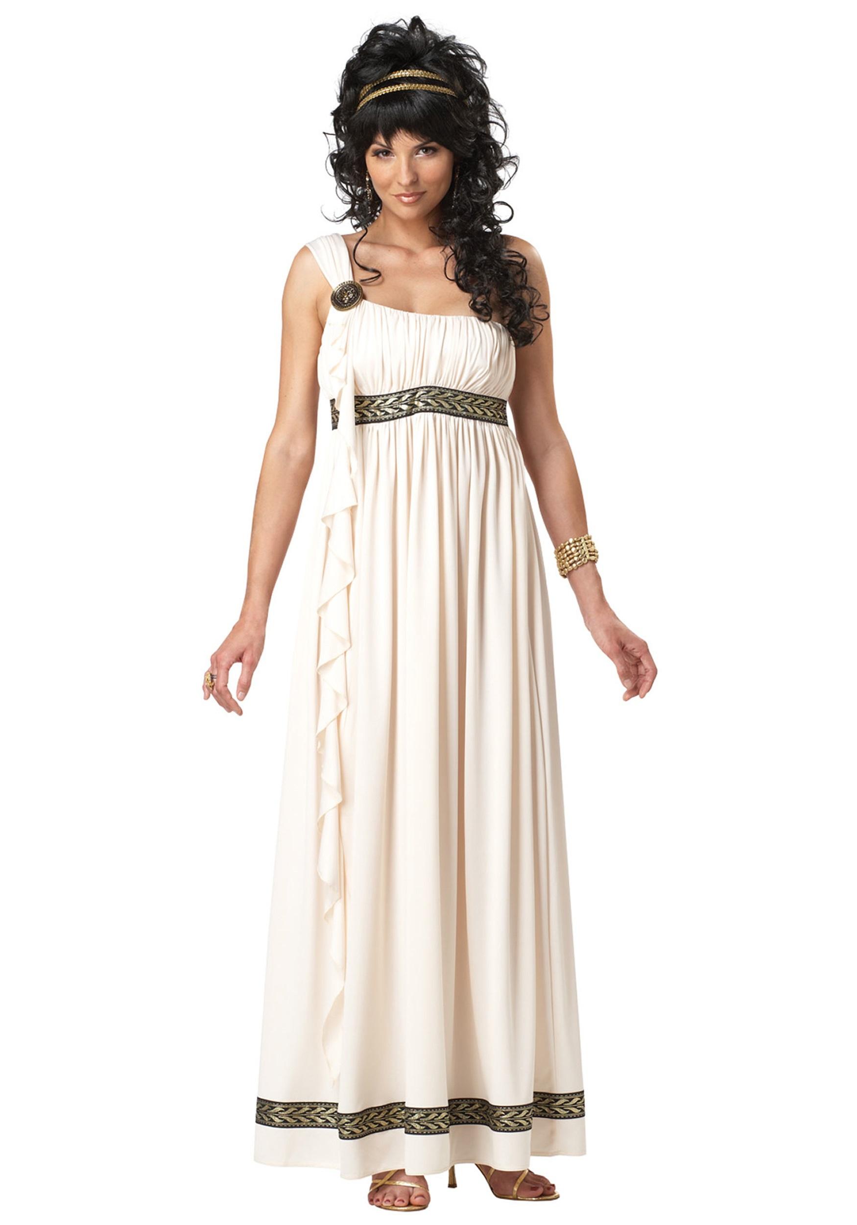 Seasons Greek Goddess Womens 3pc Adult Costume White|Gold