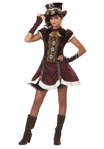 Click Here to buy Tween Steampunk Girls Costume from HalloweenCostumes, CDN Funds