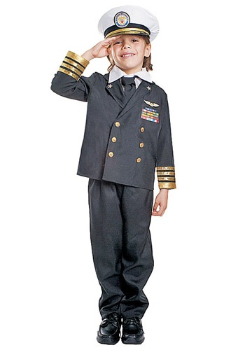 Kids Navy Admiral Costume By: Dress Up America for the 2015 Costume season.