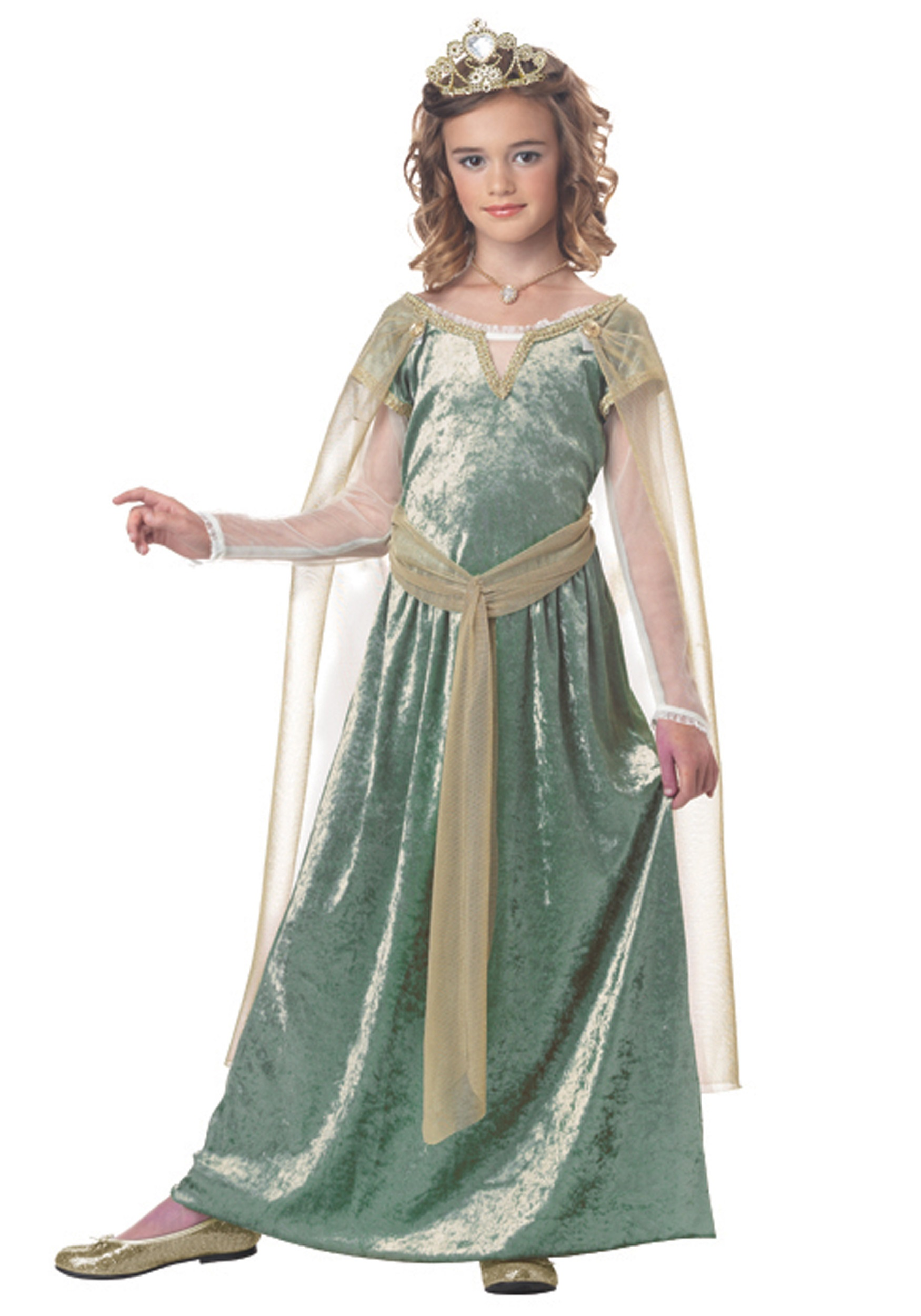 sc 1 st  Halloween Costumes & Child Queen Guinevere Costume
