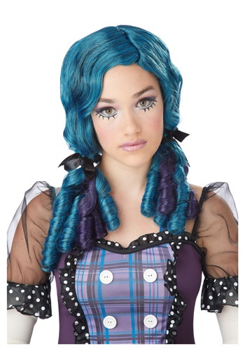 Blue / Purple Doll Curls Wig By: California Costume Collection for the 2015 Costume season.