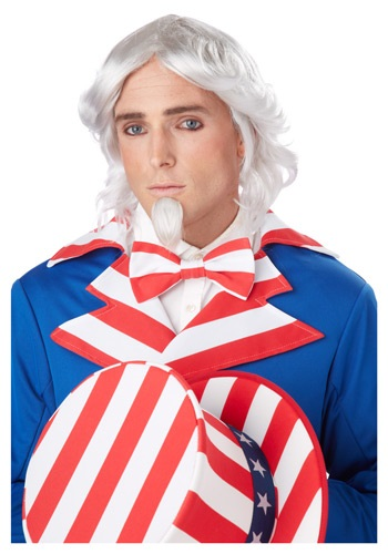 Uncle Sam Wig and Chin Patch By: California Costume Collection for the 2015 Costume season.