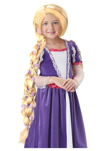 Click Here to buy Rapunzel Wig with Flowers from HalloweenCostumes, CDN Funds