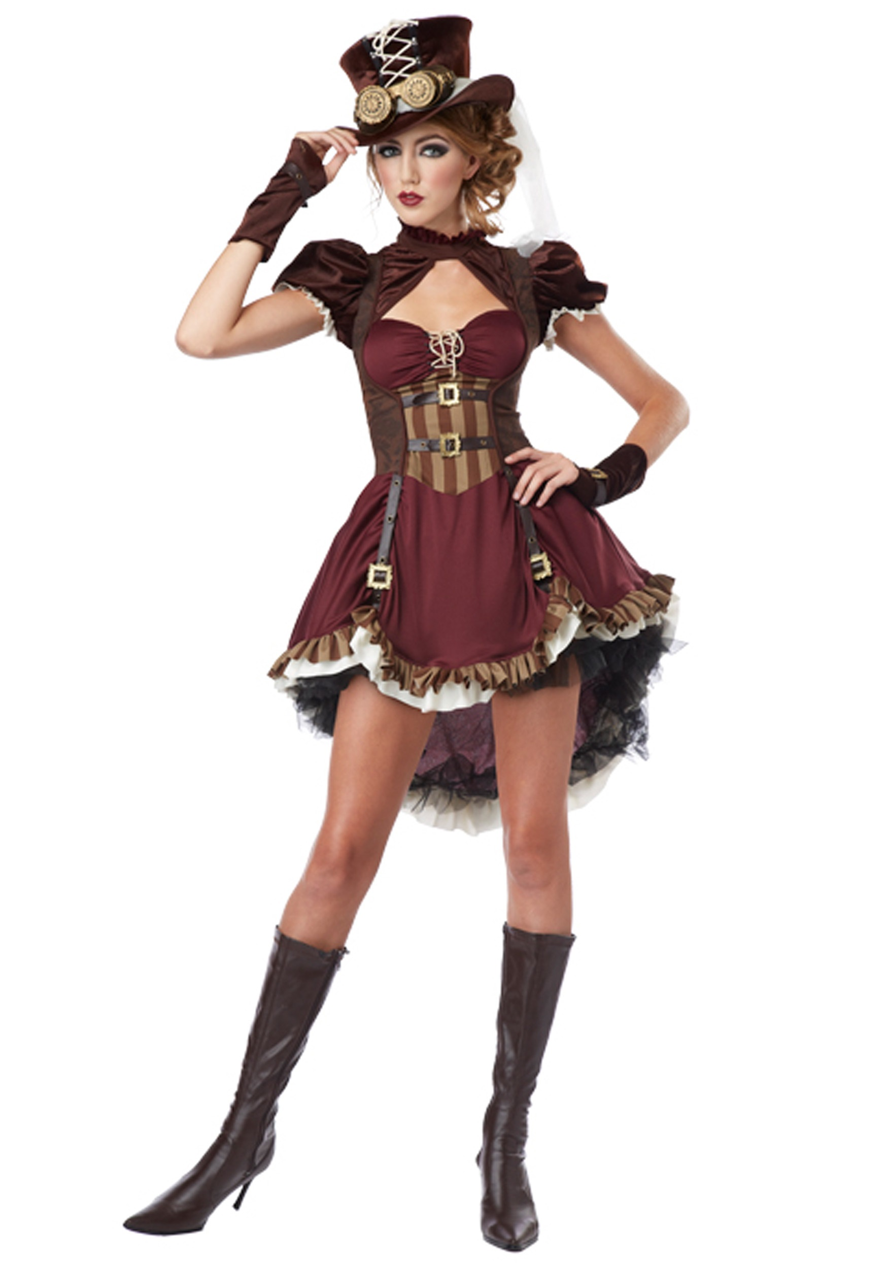 Womens Steampunk Lady Costume-2556
